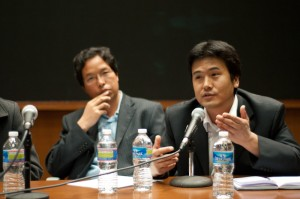 Business professor Tsering Dondrup shares his thoughts during the symposium